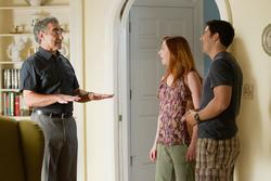 Jason Biggs (re.), Alyson Hannigan, Eugene Levy