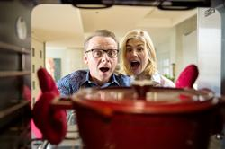Barry Atsma, Simon Pegg, Rosamund Pike