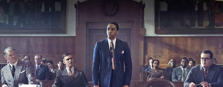 Chadwick Boseman in einem Biopic über Thurgood Marshall (1908-1993), der von 1967 bis 1991 als erster Afroamerikaner Richter am Obersten Gerichtshof der USA war