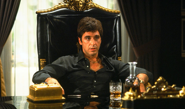 "Pacino in ""Scarface"" (© UIP)"