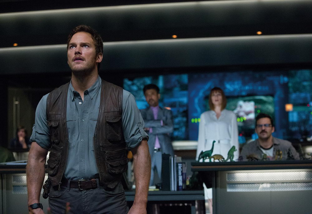 Chris Pratt, Irrfan Khan, Bryce Dallas Howard, Jake Johnson