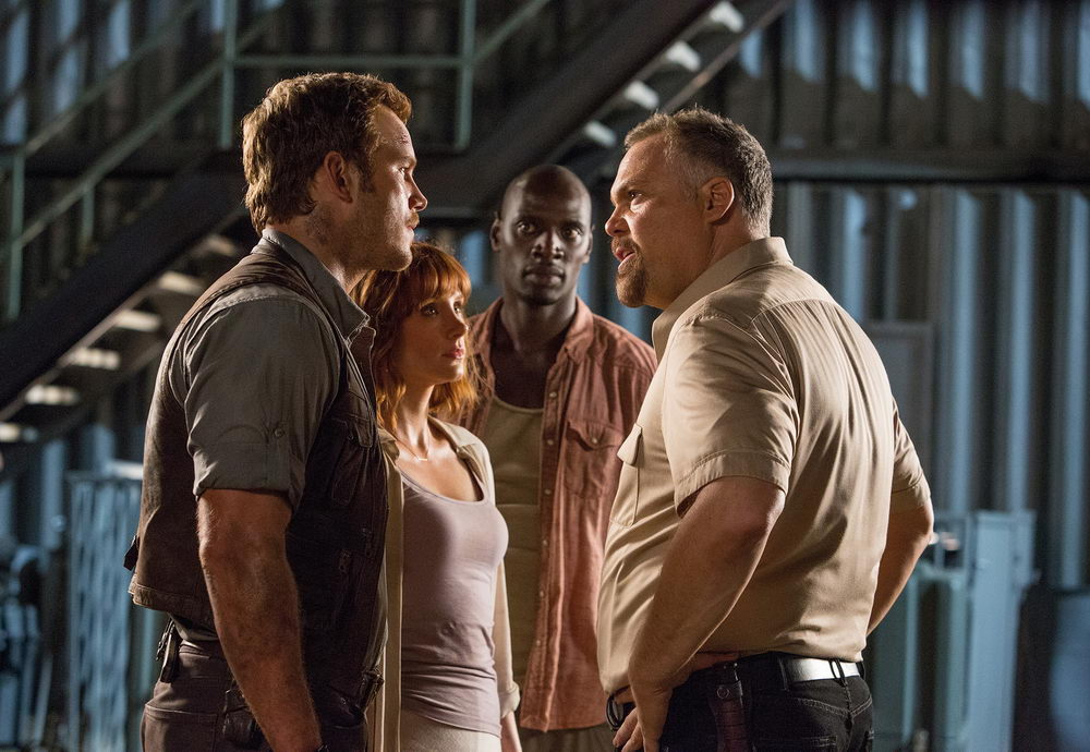 Chris Pratt, Bryce Dallas Howard, Omar Sy, Vincent D'Onofrio