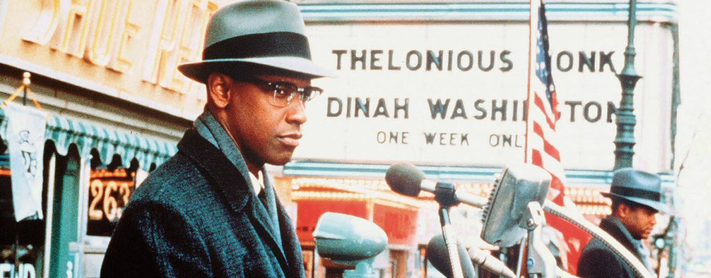 "Denzel Washington als ""Malcolm X"""
