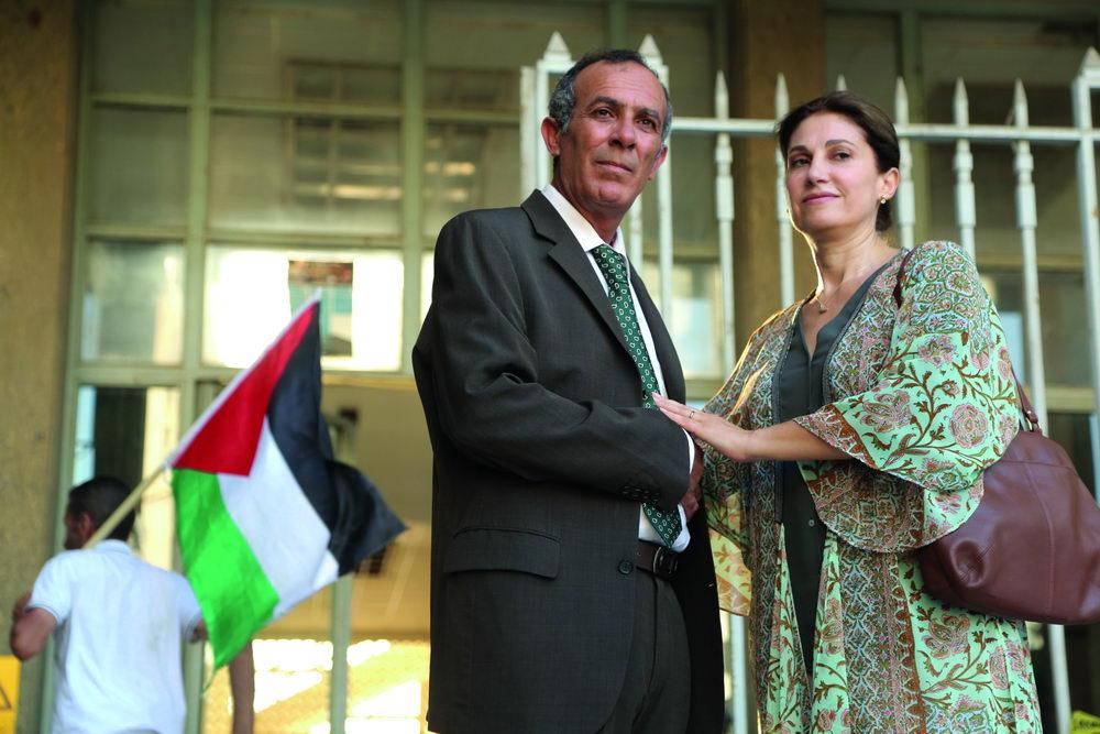 """Kamel El Basha mit Christine Choueiri in """"Der Affront"""""""