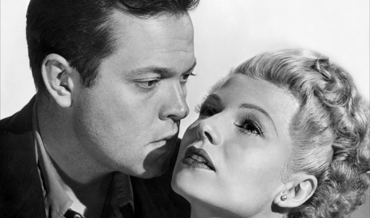 "Mit Orson Welles in ""Lady From Shanghai"""