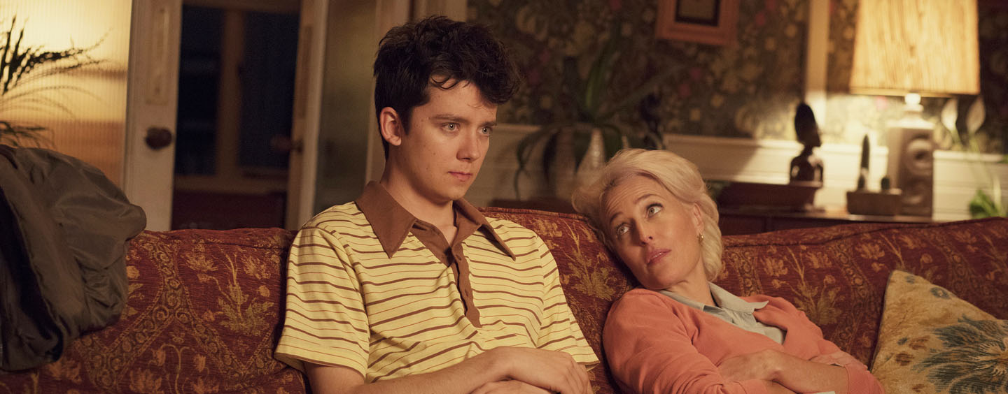 "Asa Butterfield und Gillian Anderson als Sohn-Mutter-Gespann in ""Sex Education"""