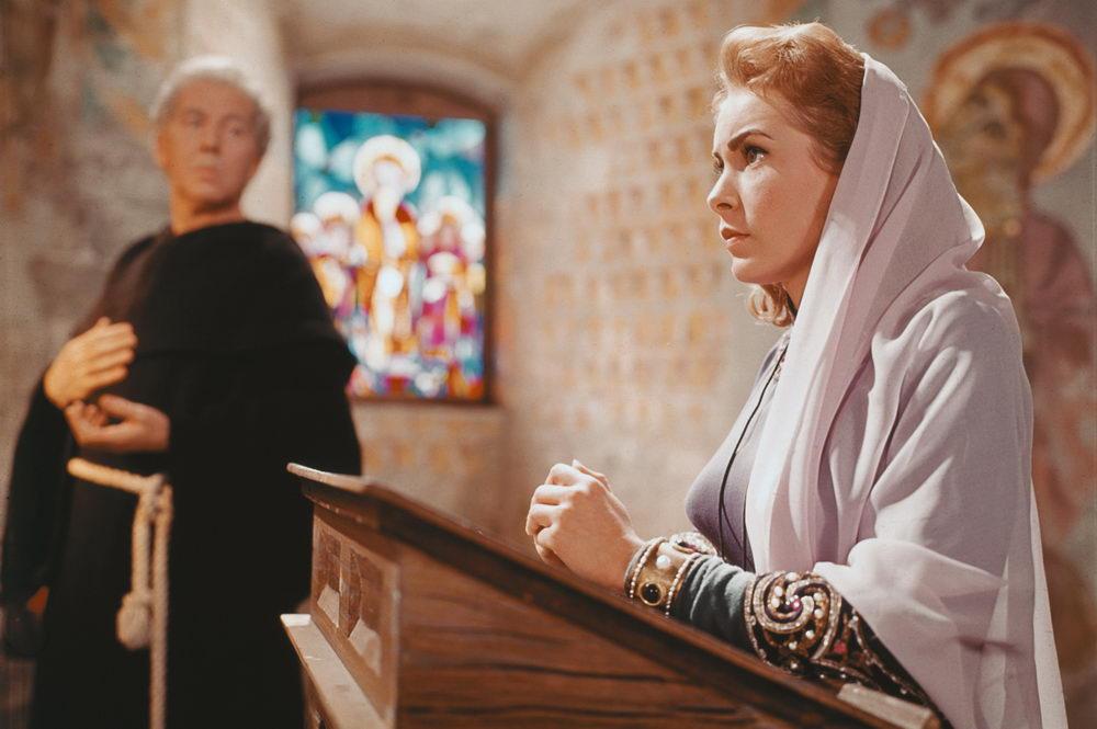 Da bleibt nur noch beten: Janet Leigh als Prinzessin unter archaischen Machos