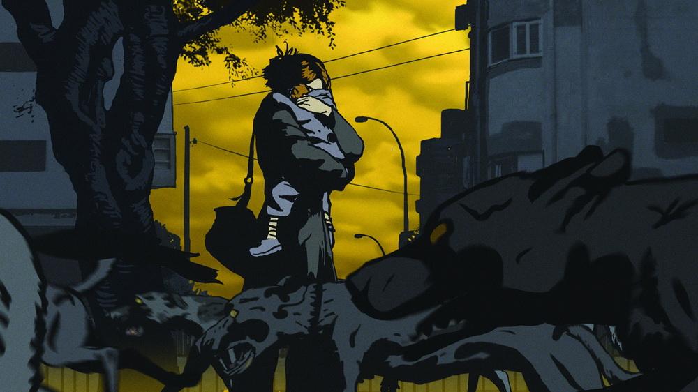 """Abstrakte Bilder geben die Albträume in """"Waltz with Bashir"""" wider."""