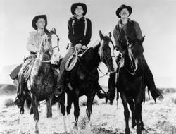 Ward Bond, Ben Johnson, Harry Carey jr.
