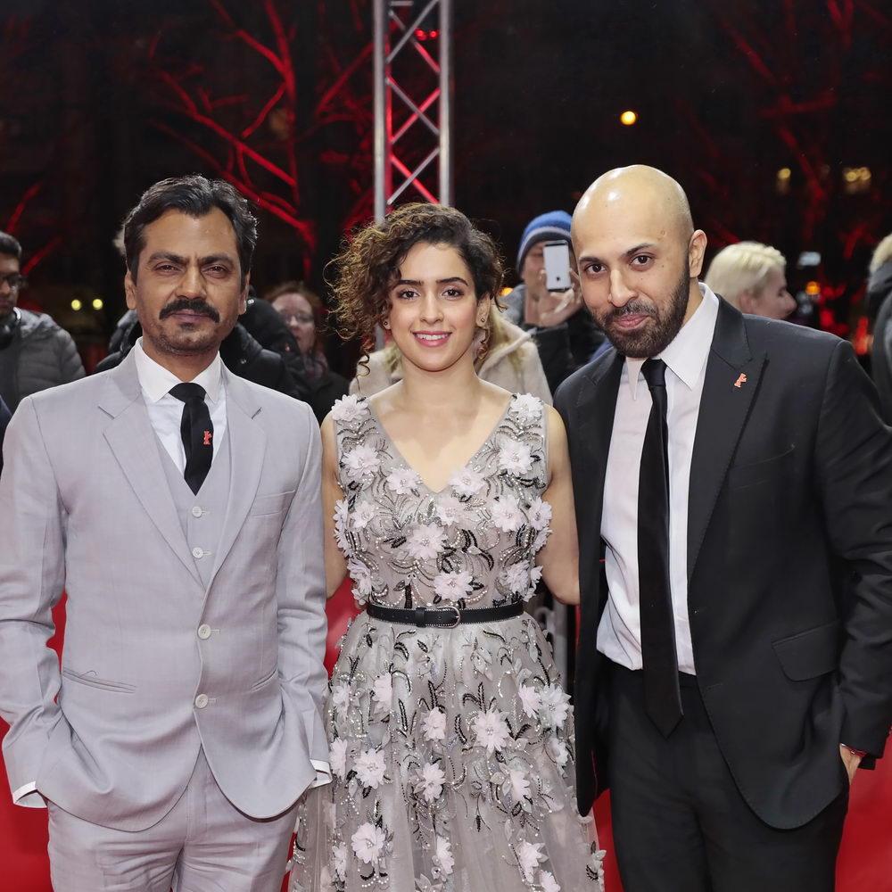 Ritesh Batra (r.) mit seinen Hauptdarstellern Nawazuddin Siddiqui & Sanya-Malhotra