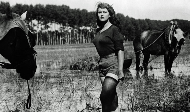 """In seinen jungen Jahren produzierte De Laurentiis neorealistische Filme wie """"Bitterer Reis"""""""