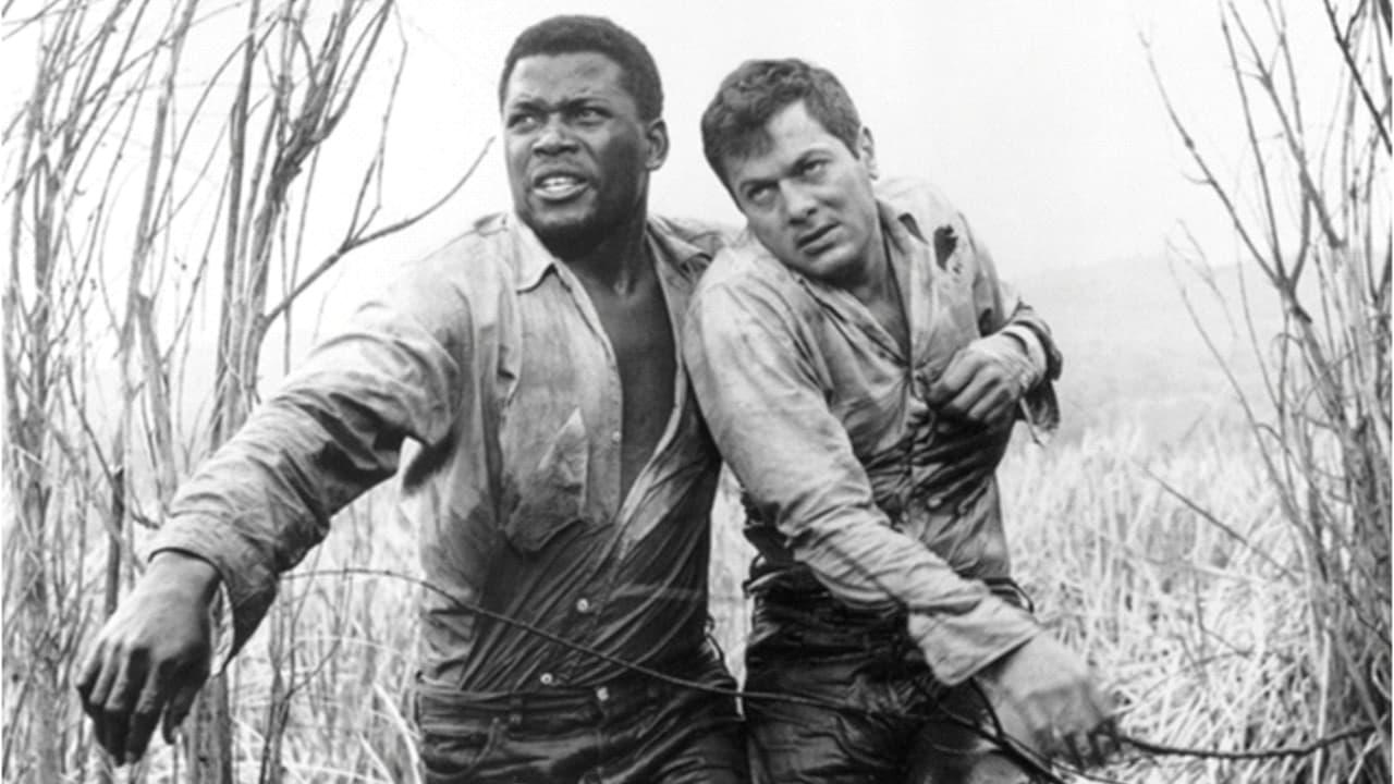 """Sidney Poitier an der Seite von Tony Curtis in """"Flucht in Ketten"""""""