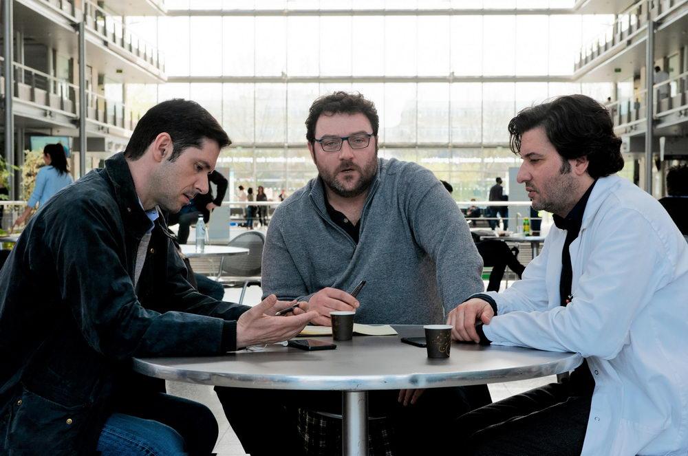 Die Missbrauchsopfer (hier: Melvil Poupaud, Denis Ménochet, Éric Caravaca) organisieren sich.