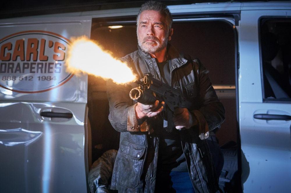 """Mit der terminator-Rolle gealtert: Arnold Schwarzenegger in """"Terminator: Dark Fate"""")"""