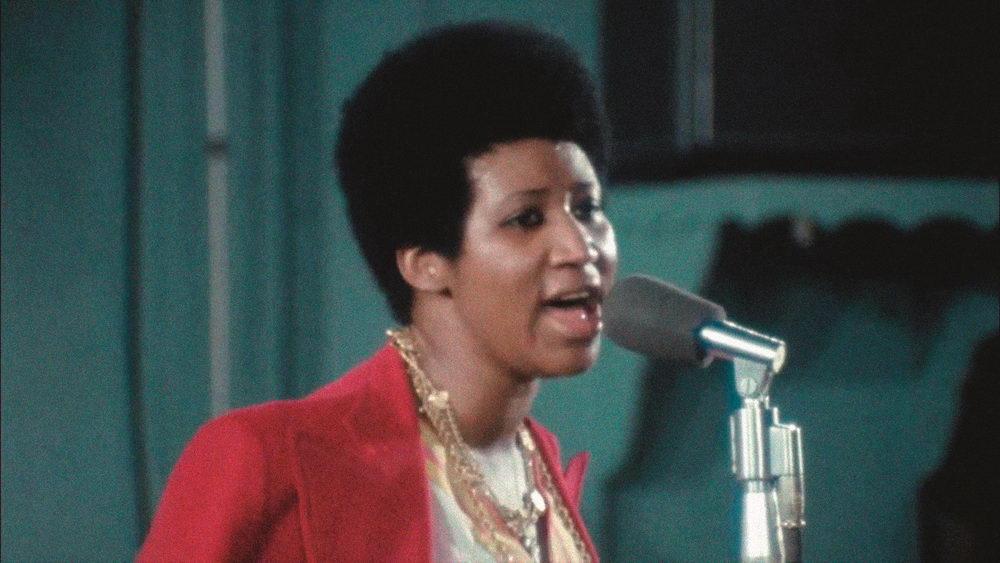 """Aretha Franklin bei der Aufnahme ihres Gospel-Albums """"Amazing Grace"""""""