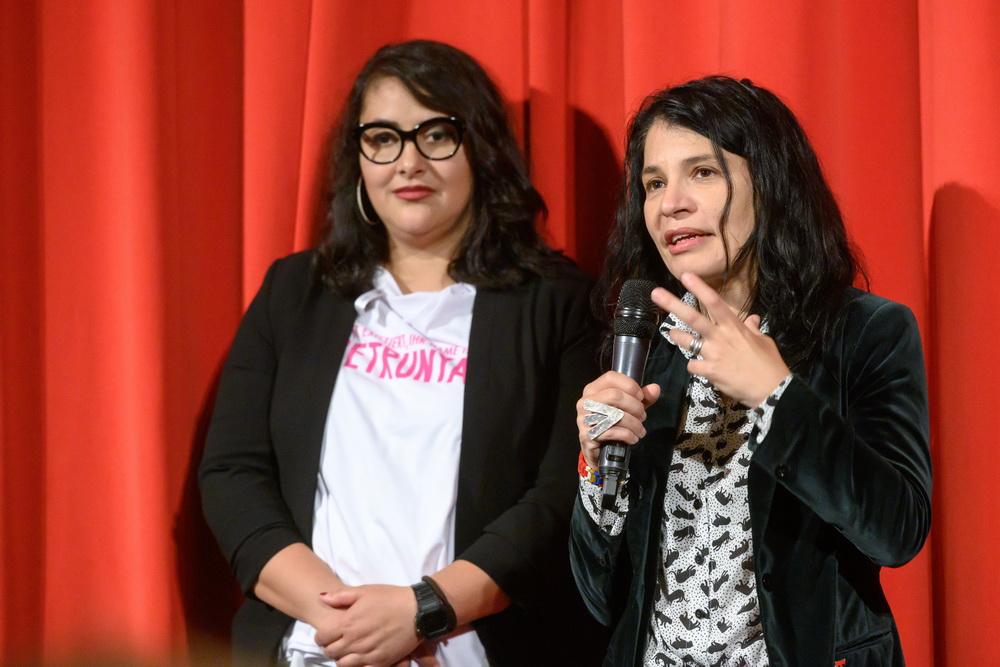 Teona Strugar Mitevska mit Zorica Nusheva bei der Premiere ihres Films im deutschen Filmmuseum in Frankfurt/Main