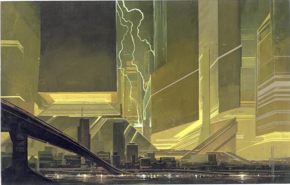 Cityscape Lightening © Syd Mead, 1981