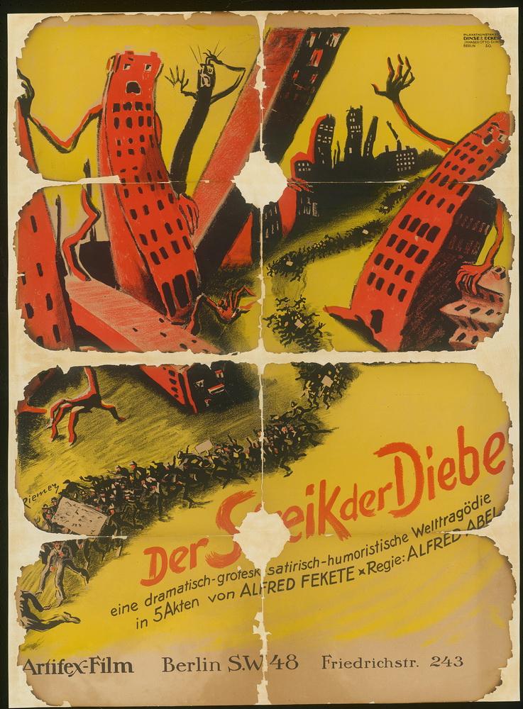 """""""Der Streik der Diebe"""", Deutschland 1921, Regie: Alfred Abel ©Deutsche Kinemathek - Grafikarchiv"""