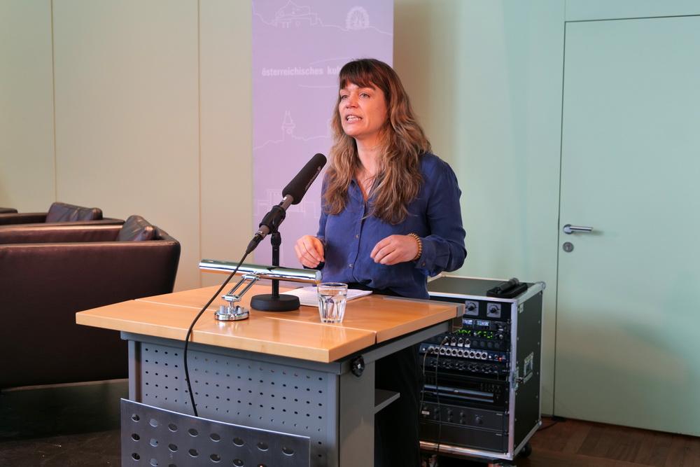 Kathrin Resetarits (Regisseurin, Drehbuchautorin, Dramaturgin, Dozentin) beim IFF-Panel (©Magdalena Kallenberger//IFFF Dortmund | Köln