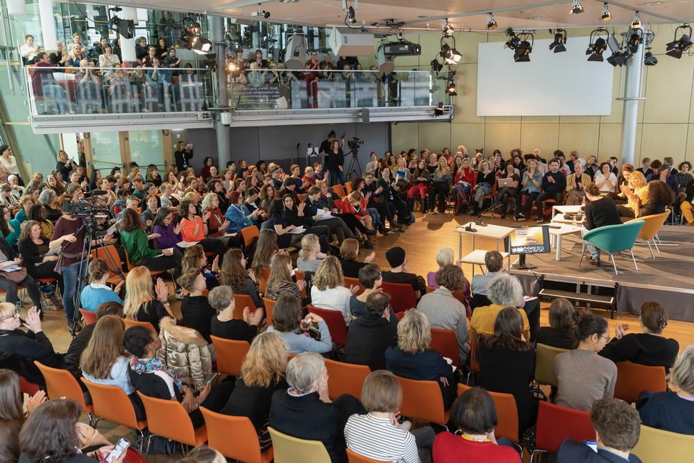 """Beim """"Prio Quote""""-Panel in der Akademie der Künste (©Pro Quote Film/Fotograf: Dietmar Gust)"""