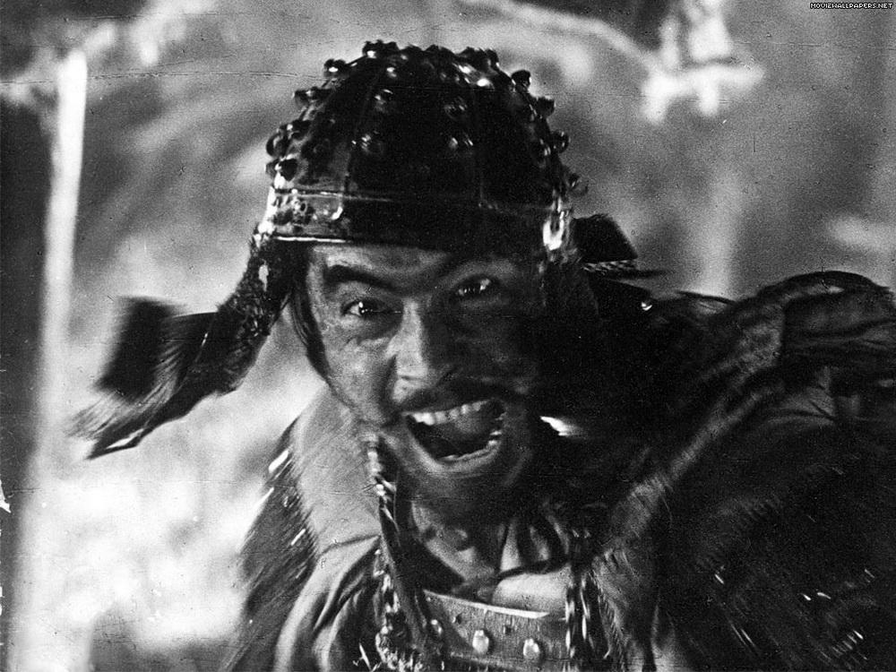 """Sein Temperament wurde zum Markenzeichen von Toshiro Mifune (hier in """"Die sieben Samurai"""") © KSM"""