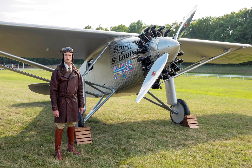 Realer Fliegerheld und Antisemit, fiktionaler Präsident der Miniserie: Charles Lindbergh