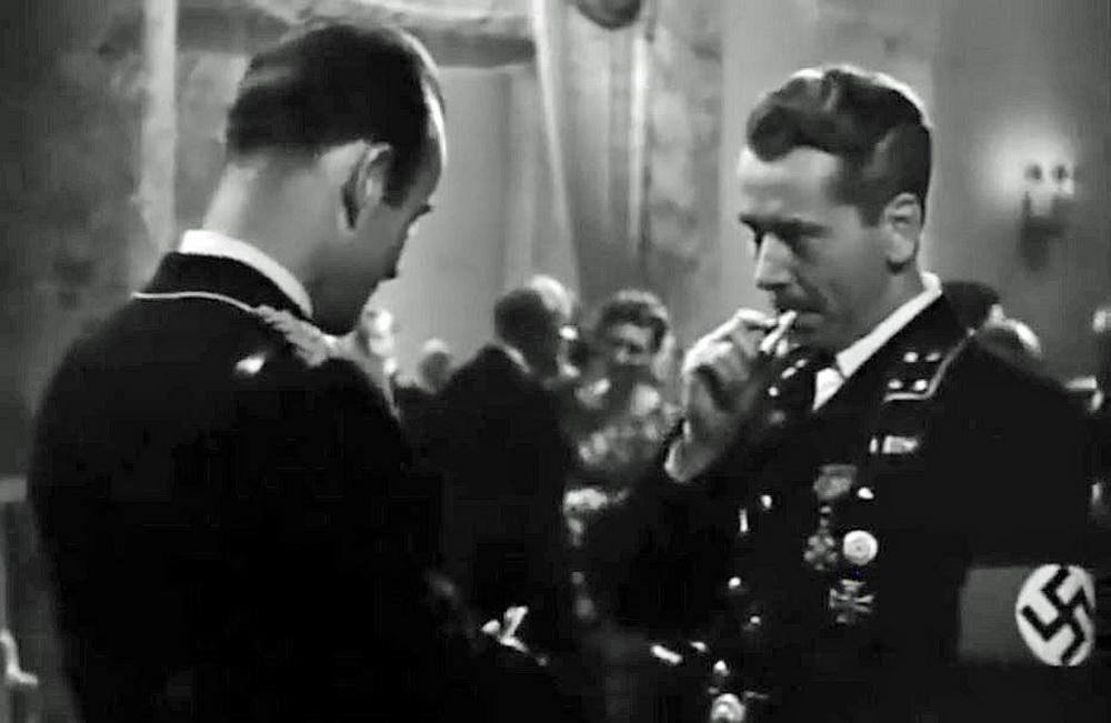 Der Naziverbrecher des Films: Wilhelm Grimm (Alexander Knox, rechts)