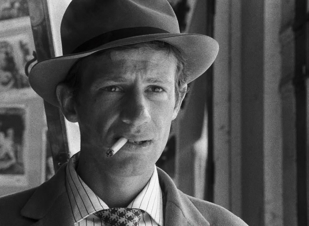 Jean-Paul Belmondo als Bogart verehrender Gauner.