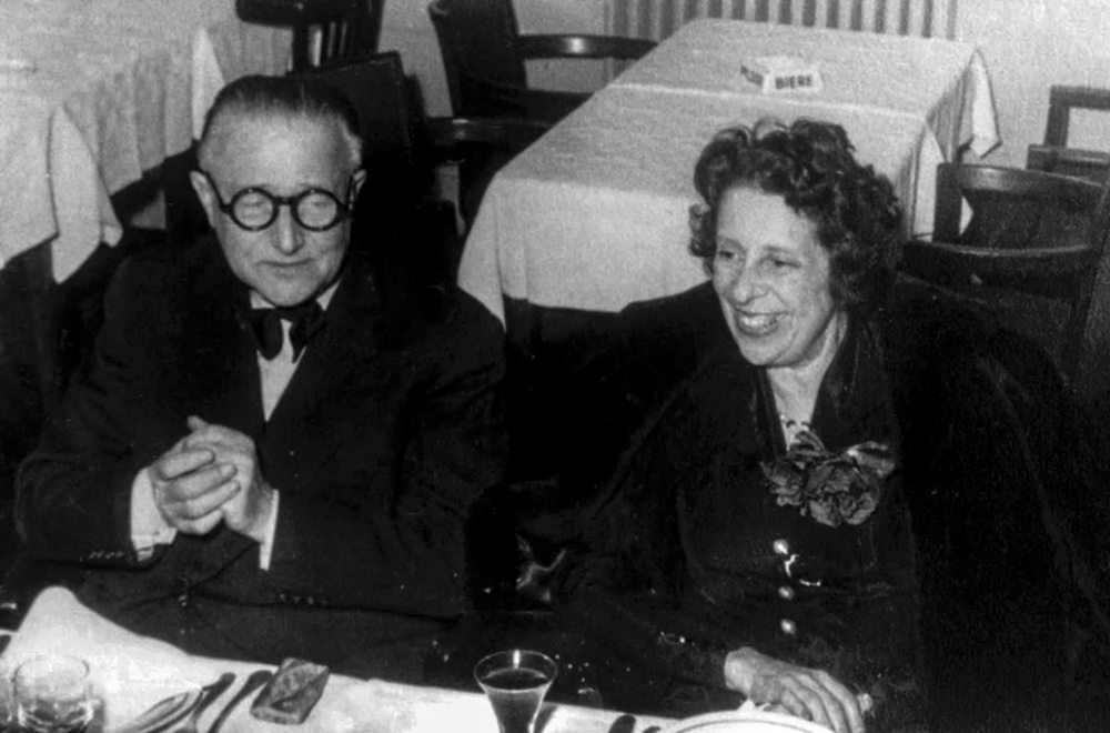 Lotte Eisner mit Fritz Lang (© Ilona Grundmann Filmproduktion/Cinémathèque française)
