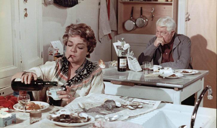 """""""Die Katze"""" ermöglichte Simone Signoret das darstellerische Duell mit Jean Gabin (© Fox)"""