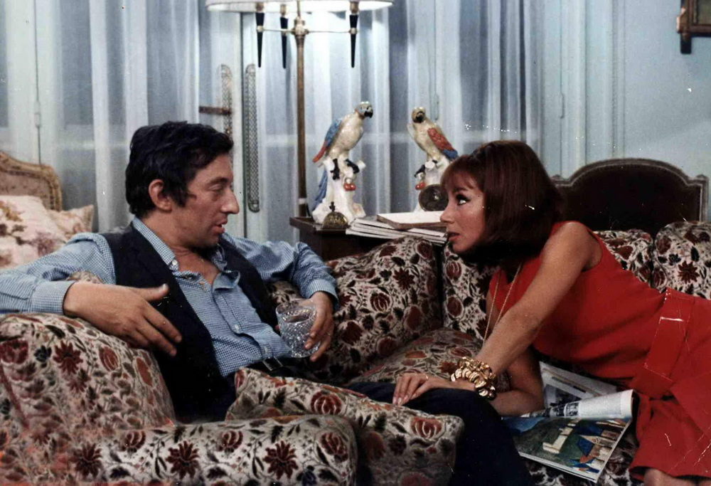 "Serge Gainsbourg und Jane Birkin in ""Slogan"" (imago/United Archives)"