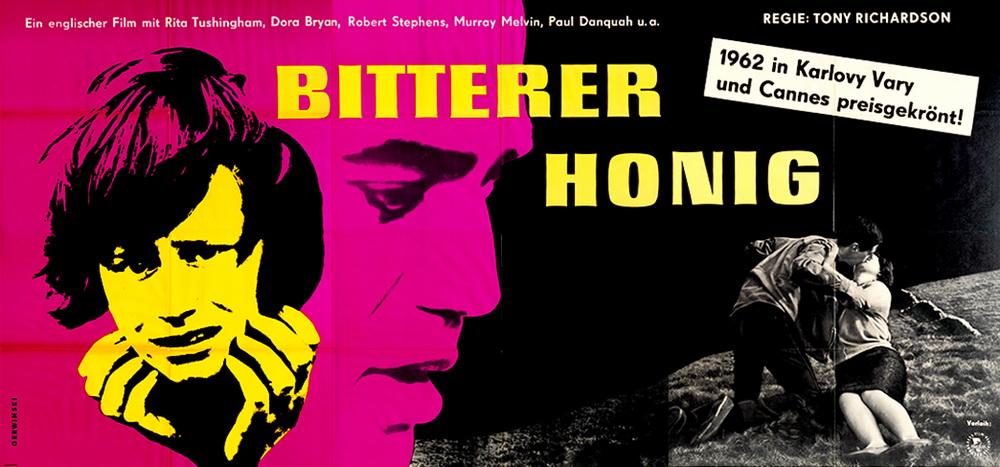 """Im besten Sinne plakativ: Das Kinoplakat zu """"Bitterer Honig"""" von Tony Richardson (Bertz+Fischer)"""