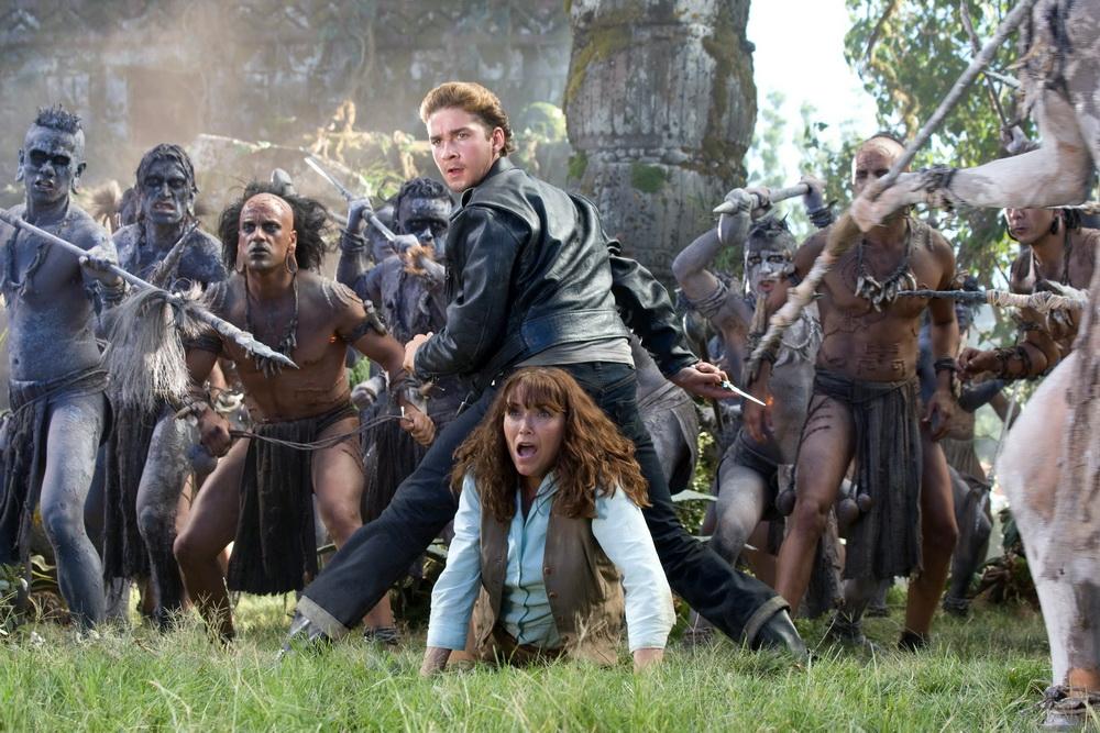 """Shia LaBeouf und Karen Allen in """"Indiana Jones und das Königreich des Kristallschädels"""" (UPI)"""