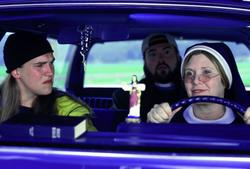 Jason Mewes, Kevin Smith, Carrie Fisher