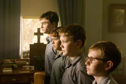 Daniel Radcliffe, Christian Byers, Lee Cormie, James Fraser