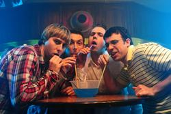 Simon Bird, Joe Thomas, James Buckley, Blake Harrison